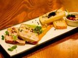 """Террин из кролика с абрикосовым джемом и морковным пюре в ресторане """"Груша"""""""