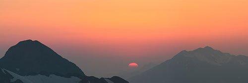Закат с хребта Аибга