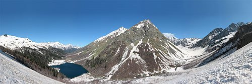 Панорама Кардывачского горного узла