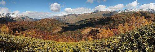 Осенние краски долины Мзымты
