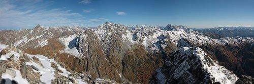 Панорама Кардывачского горного узла с горы Лоюб