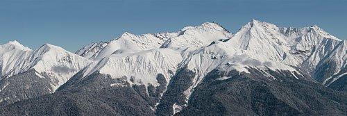 Панорама массива горы Псеашхо с Аибги