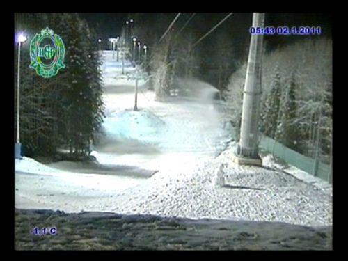 Снежные ружья на Газпроме, снимок с вебкамеры