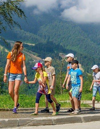 Летние смены для детей на Розе Хутор от туристического агентства Фанкидз