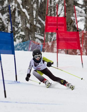 Детские соревнования по горным лыжам на курорте  «Горки Город»