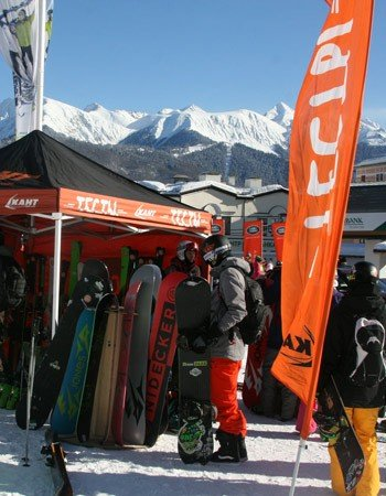 Тестирование горных лыж и сноубордов от сети магазинов «Кант»