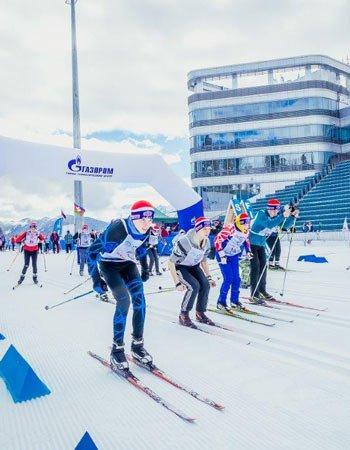 «Лыжня Кубани» на курорте ГТЦ «Газпром»