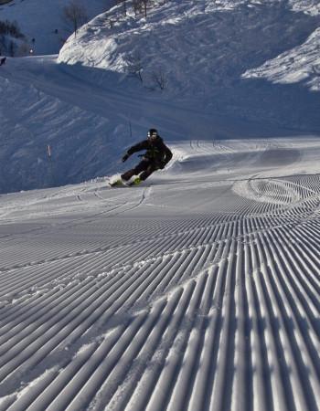 Тесты горных лыж на курорте Роза Хутор
