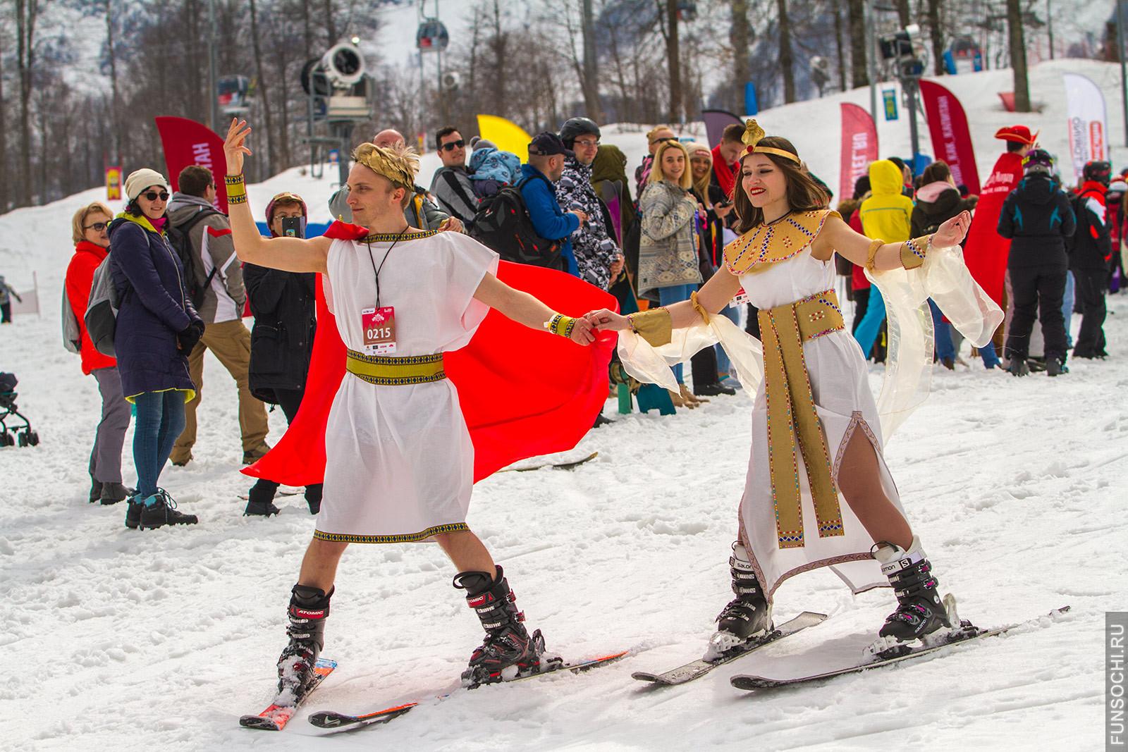 Римские лыжники карнавал