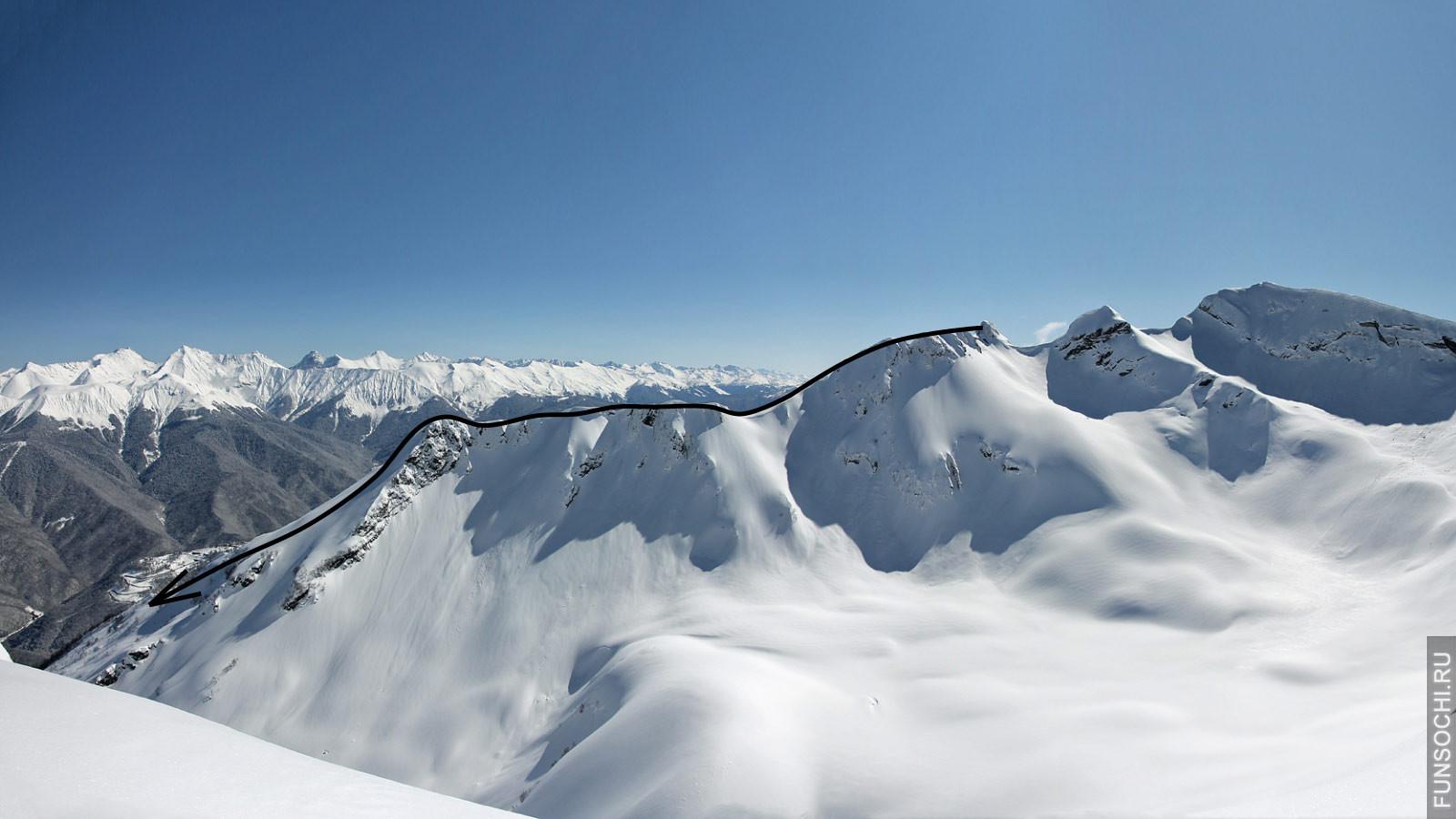 Линия с вершины Пятигорска.