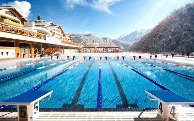 Открытый спортивный бассейн 50м Газпром