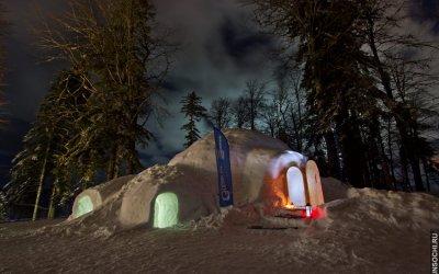 Снежный иглу-отель