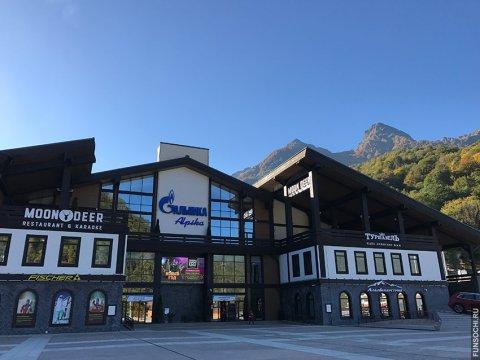 Станция канатных дорог Альпика Сервис летом
