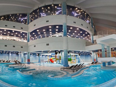 Закрытая зона в аквапарке Галактика Газпром Красная Поляна