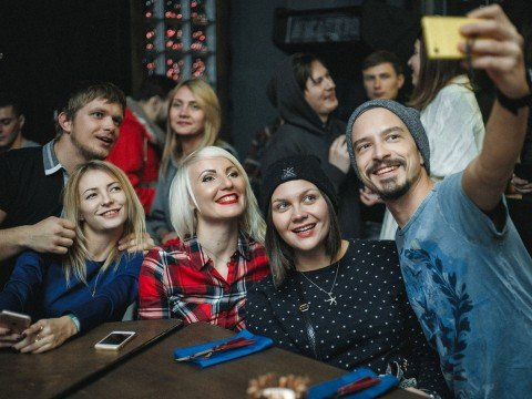 Селфи, гастро-бар Станция, Роза Хутор, Красная Поляна, Сочи.