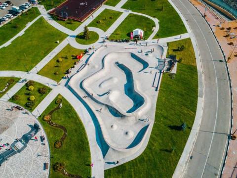 Скейт парк с высоты птичьего полета