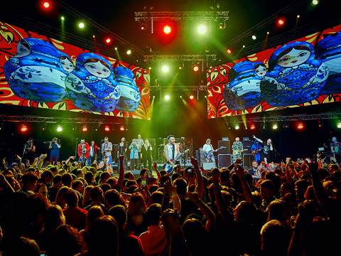Концерт группировки Ленинград в горах Сочи