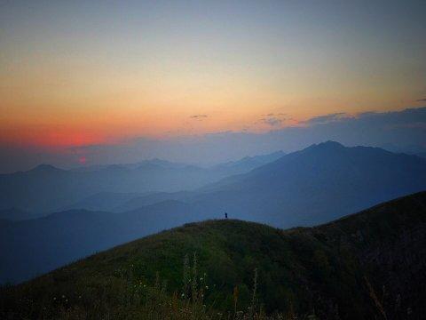 Закат в горах Красной Поляны