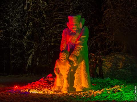 Парк снежных скульптур в Красной Поляне