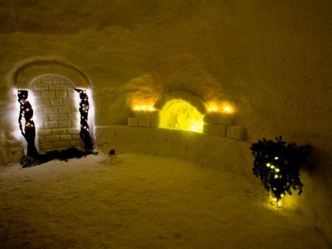 Снежный камин