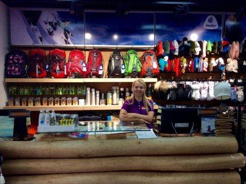 Магазин кант рядом с подъемником Роза Хутор