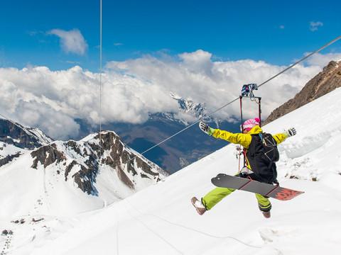 самый высотный и длинныйо зиплайн в России