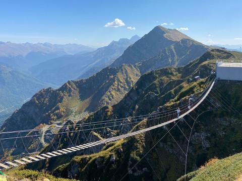 Большой подвесной мост на Роза Хутор