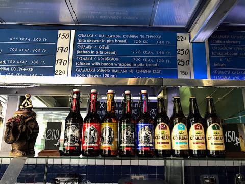 Крафтовое пиво в сувлачной Greco Megusto в Красной Поляне.