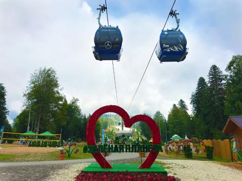 Парк Зеленая планета в горах ГТЦ Газпром
