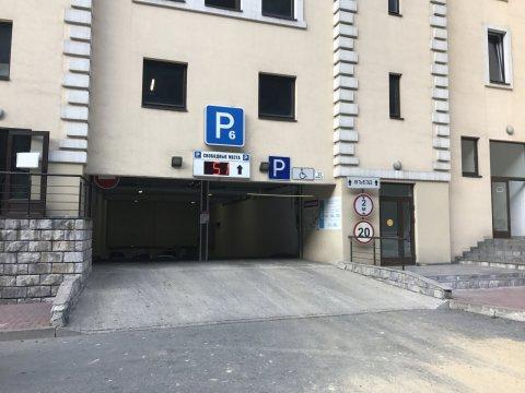 Въезд на парковку Р6