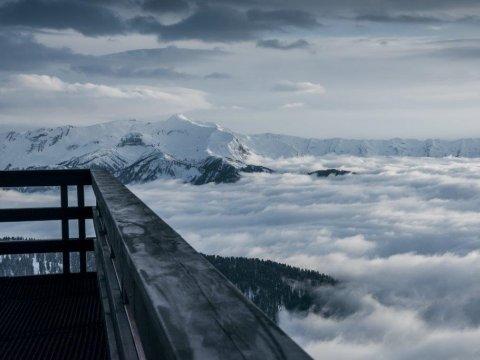 Вид из горной бани на Газпроме