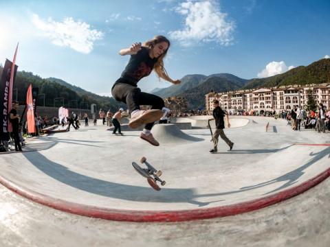 Скейт площадка в горах Сочи