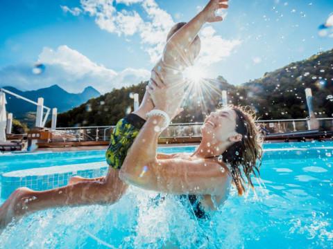 Отдых с детьми в аквапарке в горах Сочи