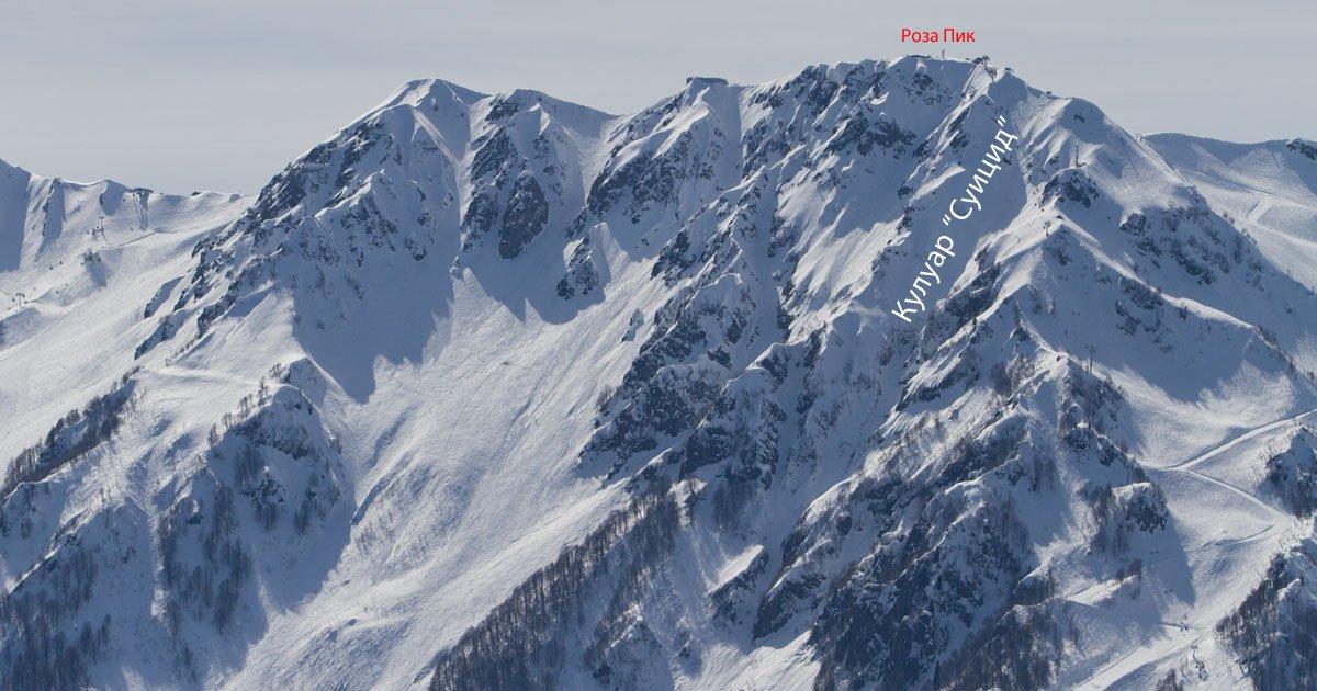 Маршрут Холодный кулуар — Эклизи-Бурун и обратно на Ангарский ... | 630x1200